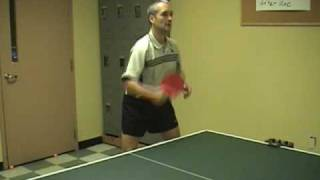 Backhand counter attack played with long pips