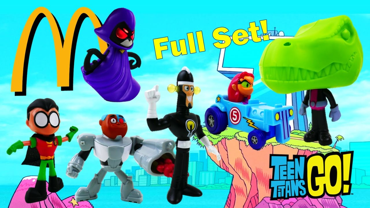 2017 McDonald's TEEN TITANS GO! Happy Meal Toys   Evies Toy House