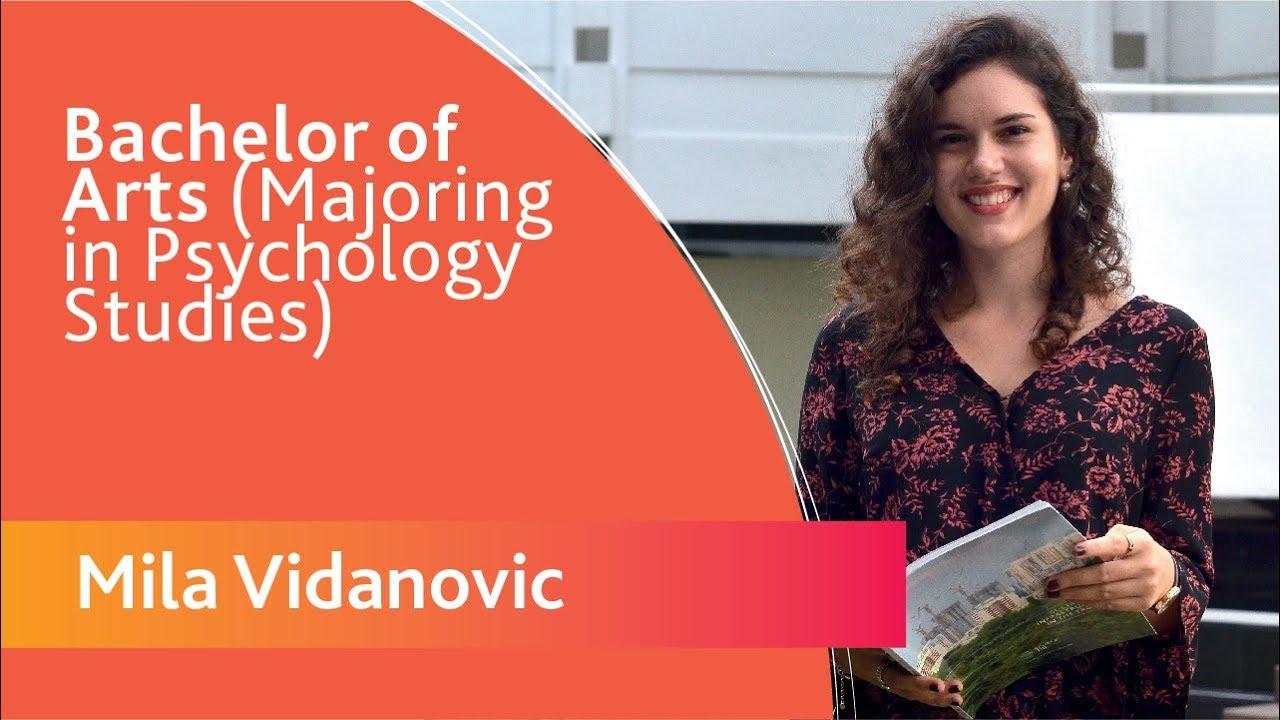 Mila Vidanovic - Bachelor of Arts (Majoring in Psychology Studies) -  Republic of Macedonia