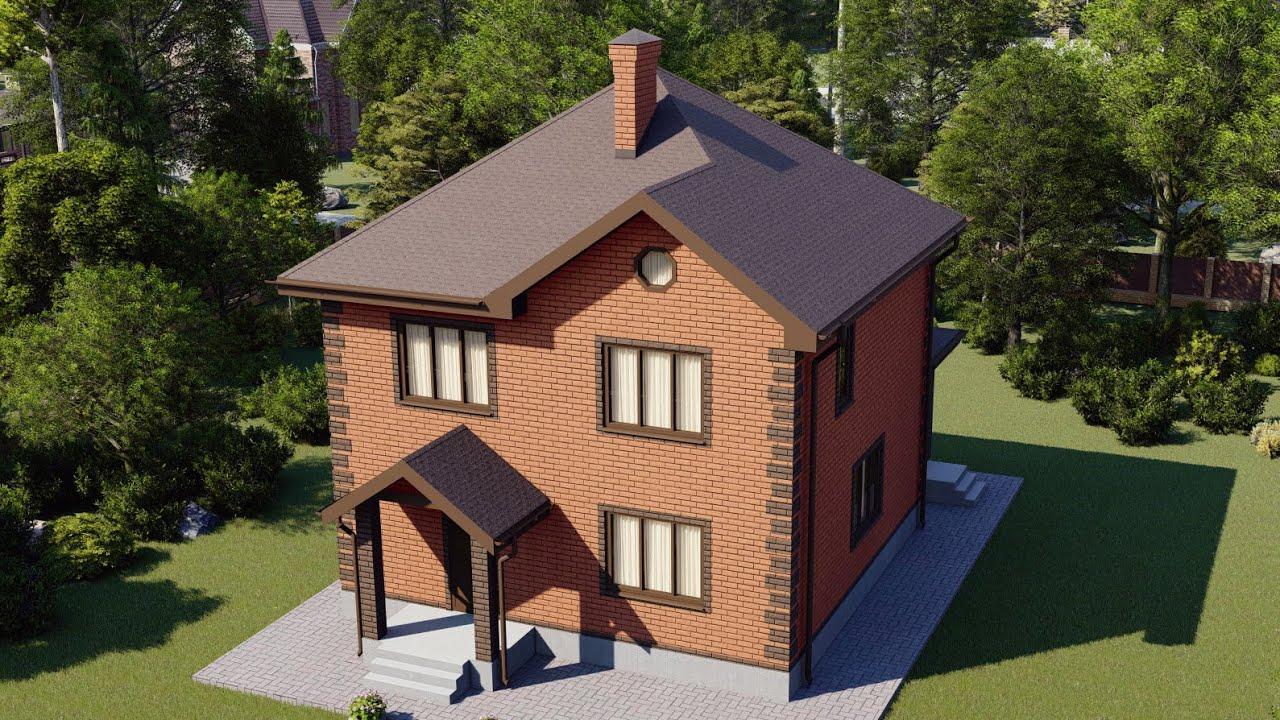 Двухэтажный дом 142 м2 с большой ванной комнатой и террасой