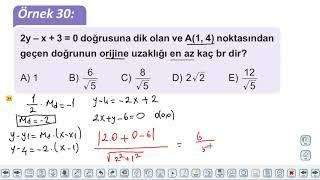 Eğitim Vadisi 11.Sınıf Matematik 7.Föy Doğrunun Analitik İncelenmesi 4 Konu Anlatım Videoları
