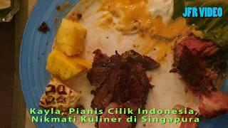 Kayla Dewanto, Pianis Cilik Indonesia, Nikmati Kuliner Di Singapura Bersama Keluarga