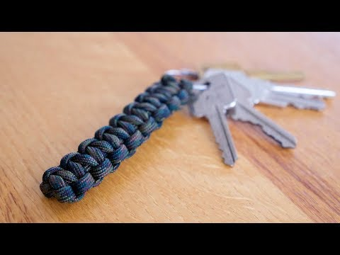SUPER EASY Paracord Keychain in 90 SECONDS!!