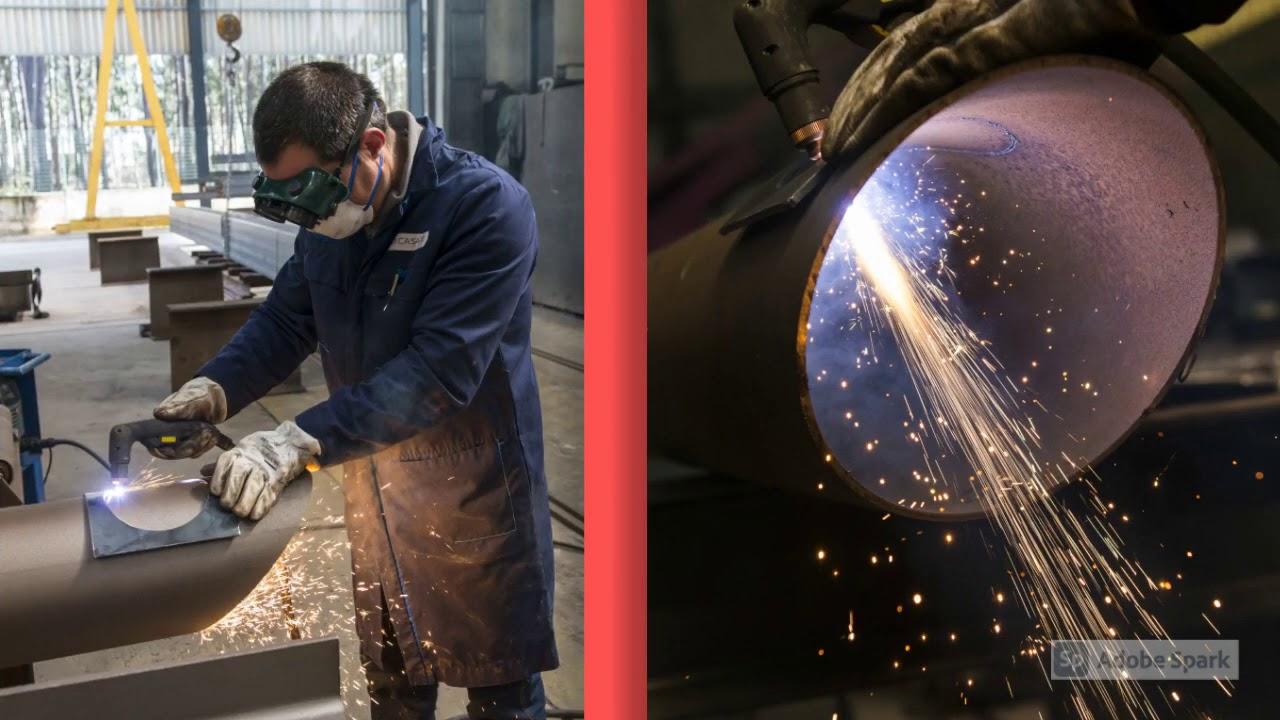 Fabricação de estruturas metálicas- Corte e furação