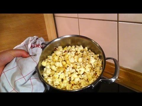 Popcorn selber machen im Kochtopf - ein Rezept