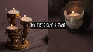 Candle Holder | 2 Easy DIY Rustic Candle Holders