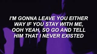 Chase Atlantic   I NEVER EXISTED (Lyrics)