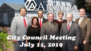 Preview image of City Council Meeting July 15, 2019