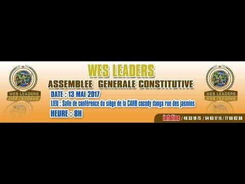 Assemblée Générale constitutive de Wêhons Leaders du 13 mai 2017 à Abidjan