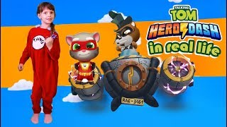 Talking Tom Hero Dash In Real Life 2| Saving Angela| Kids Skit