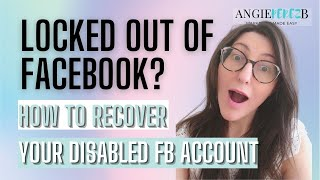 Locked out of Facebook How To Recover Disabled FB Account