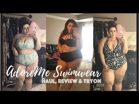 AdoreMe Plus Size Swimwear Haul, Review & TryOn