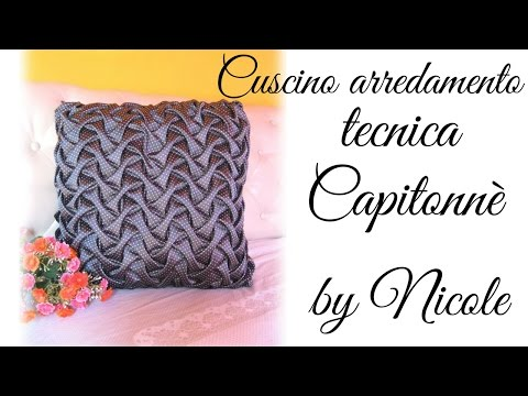 Tutorial cuscino con la tecnica capitonnè - canadian smocking for cushion