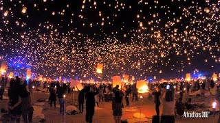 "RISE Lantern Festival - Tangled ""I See the Light"" in Real Life - Las Vegas"