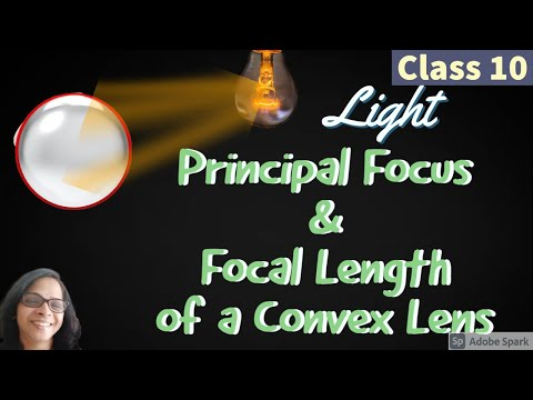 Principal Focus and Focal Length of a Convex Lens