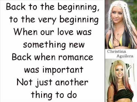 Christina Aguilera - Underappreciated (Lyrics On Screen)