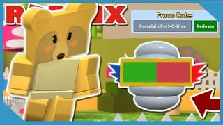 BUYING *NEW* PORCELAIN PORT-O-HIVE + NEW CODES IN ROBLOX BEE SWARM SIMULATOR