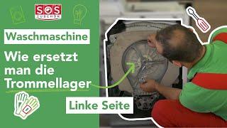 Wie ersetzt man die Trommellager einer Toplader-Waschmaschine (Folge)?