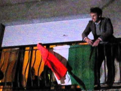 Greta e la bandiera Italiana