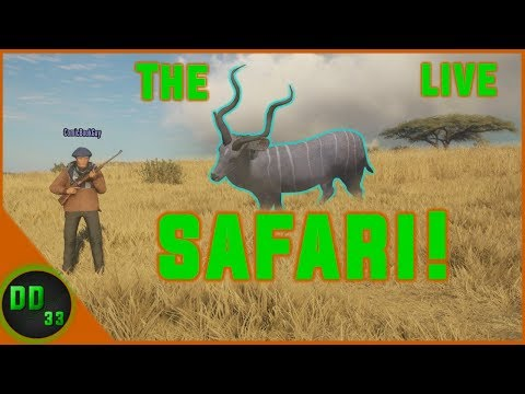 Hunting The AFRICAN SAFARI Multiplayer  Live!!   TheHunter Call of the Wild 2019