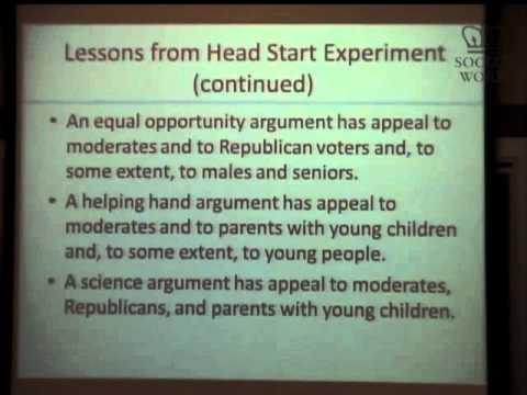 Visiting Scholar: Dr. William T. Gormley, Children & Public Policy Issue Frames that Work