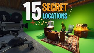 15 SECRET SPOTS/LOCATIONS on the New Fortnite Map