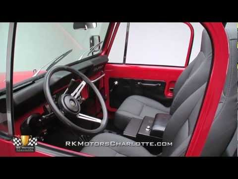 Awesome Red 1980 Jeep CJ7