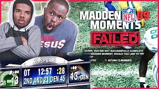 TRYING TO REPEAT HISTORY! - Madden 09 Moments   #ThrowbackThursday