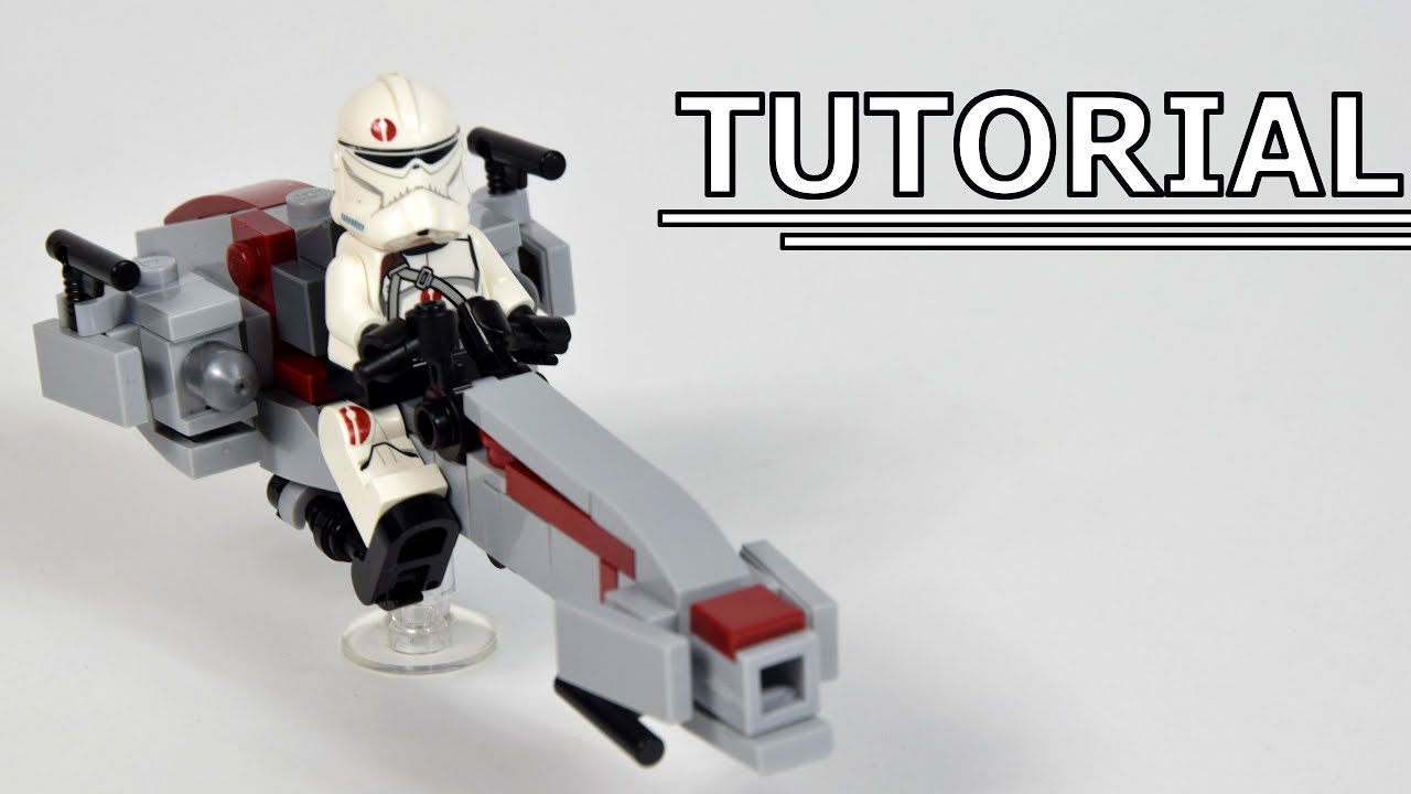How to build Lego Star Wars BARC Speeder from Clone Wars   MOC Tutorial