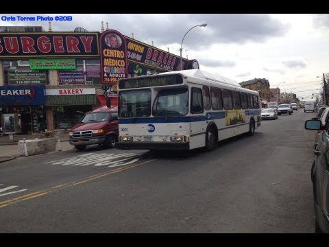 MTA Bus: A Ride On The Q23 To Ditmars Blvd With Orion V CNG #9874! Mp3