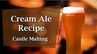 Cream Ale Beer Recipe I Design a Beer Cream Ale