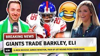 NEW YORK GIANTS TRADE SAQUON BARKLEY PRANK!?!?
