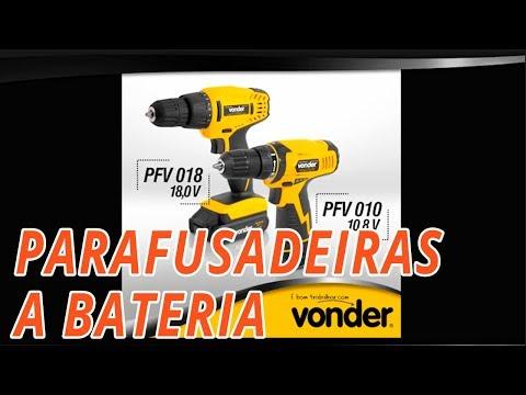 Parafusadeira/Furadeira a Bateria 18V Li-Ion 3/8 Pol. com Carregador 2 Baterias e Acessórios - Video