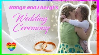 Robyn And Cheryls Lgbtq Wedding Ceremony 2018 Lesbian Wedding 2018 Australia