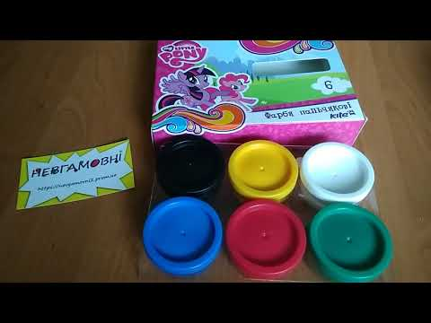 Фарби пальчикові 6 кольорів