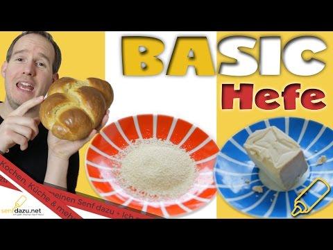 Hefe - So gelingt der Hefeteig - Basics, Super-Food, einfrieren und Super Trick für frische Hefe