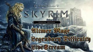 Skyrim Special Edition LiveStream | Altmer Mage - Legendary Difficulty | 18+ Mature | XBox One