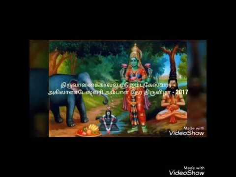 Thiruvanaikaval Sri Jumbukeswarar - Sri Akilandeshwari temple Chariot  Festival -2017
