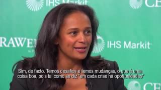 Entrevista de Isabel dos Santos na CERA Week