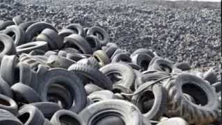 Making Asphalt From Used Tires