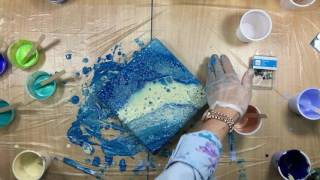 ( 237 ) Acrylic pour with very thin Primary Elements