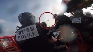 태안해경, 불법조업 중국어선 단속현장