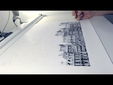 72 Hours Of Insanely Detailed Drawing Condensed In A Two-Minute Video
