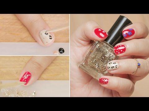 5 nail art design toothpick