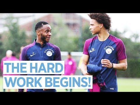 HIGH INTENSITY INTERVAL TRAINING!   Man City Pre Season Training Day 2