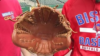 Bisons pitcher tosses fastballs with both hands