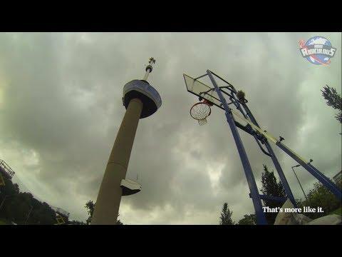 Canasta desde 98 metros de altura