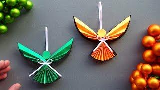 Basteln für Weihnachten: Engel als Weihnachtsdeko selber machen - Weihnachtsengel aus Papier