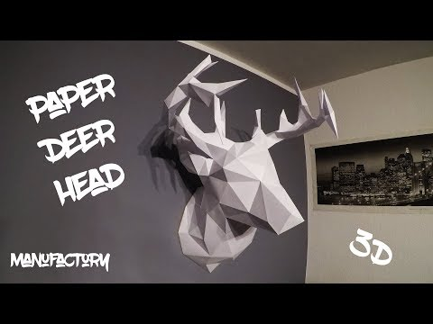 DIY Paper Deer Head, Hirschkopf - ManuFactory
