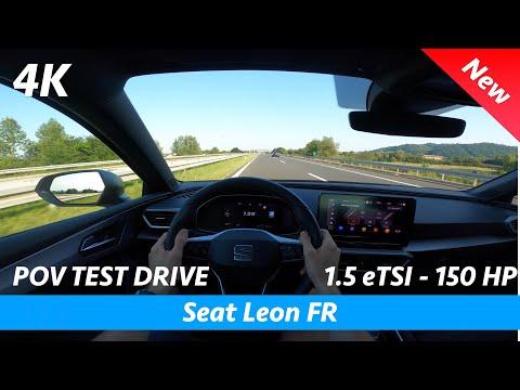 Seat Leon FR 2020 - POV test drive in 4K | 1.5 eTSI - 150 HP, Acceleration 0 - 100 km/h